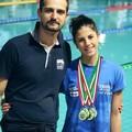 Elena Compierchio e il suo allenatore Fabrizio Addamiano