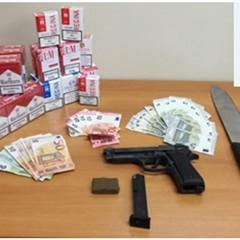 armi droga e sigarette sequestrate