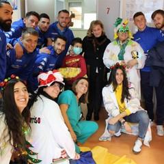 Audace Cerignola visit i pazienti del Tatarella foto