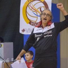 Coach Pino Tauro esultanza