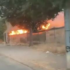 Incendio zona cimitero foto