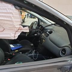 incidente a Cerignola abitacolo Fiat Punto