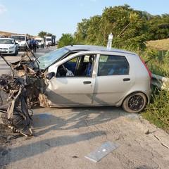 incidente sulla sp Fiat Punto