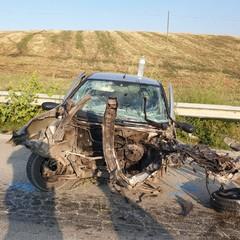incidente sulla sp Fiat Punto frontale