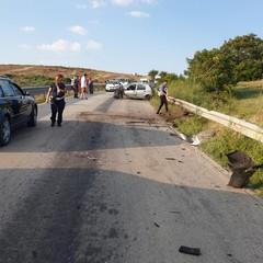 incidente sulla sp Polizia municpale rilievi