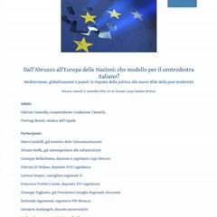 Invito Convengo Fondazione Tatarella a Pescara