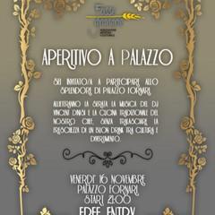 locandina aperitivo a Palazzo Fornari
