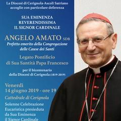 Locandina card Angelo Amato a Cerignola