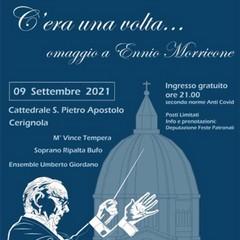 Locandina concerto omaggio a Morricone