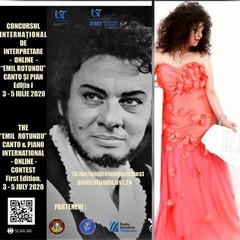 Locandina Concursul International de interpretare online Emil Rotundu