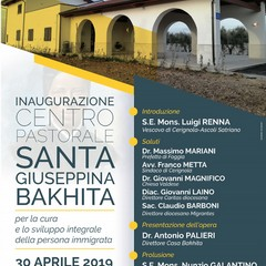 Locandina Inaugurzione Centro Bakhita