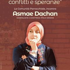 Locandina incontro con Asmae Dachan