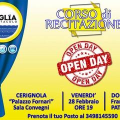 Locandina Open day Puglia Spettacolo
