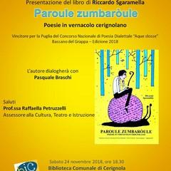 Locandina presentazione libro Riccardo Sgaramella