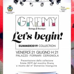 Locandina sfilata di moda Gremy