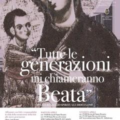 """Locandina evento: """"Tutte le generazioni mi chiameranno Beata"""" Pellegrinaggio Spirituale Diocesano"""