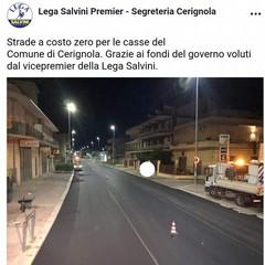 Post originale sullasfalo a Cerignola