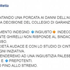 post Sindaco Metta n