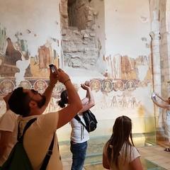 Torre Alemanna gli affreschi della chiesa preesistente
