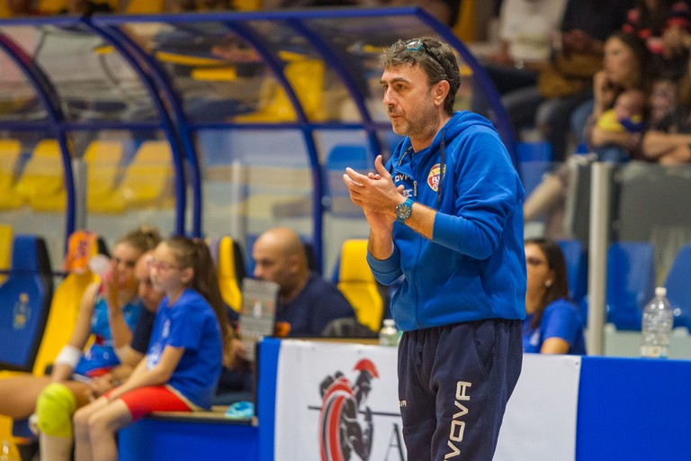 Esultanza Coach Breviglieri. <span>Foto Vito Monopoli</span>