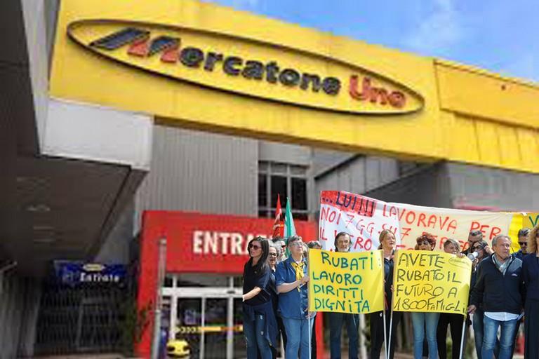 Mercatone Uno, dipendenti protestano