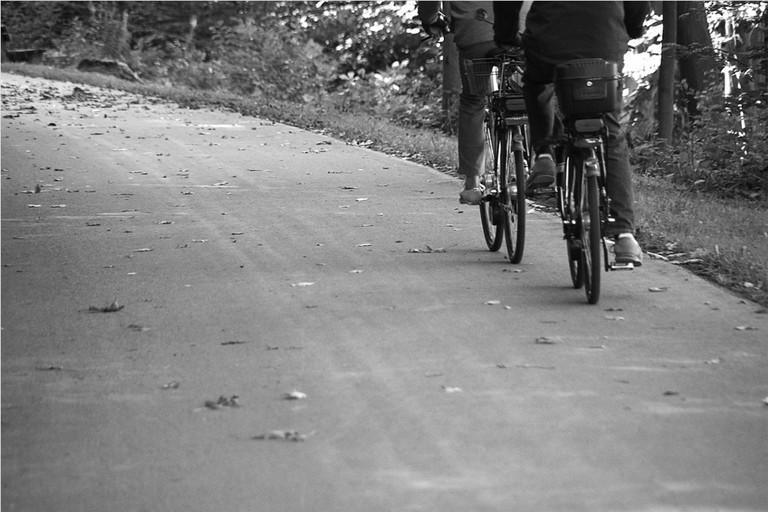 a lavoro in bici