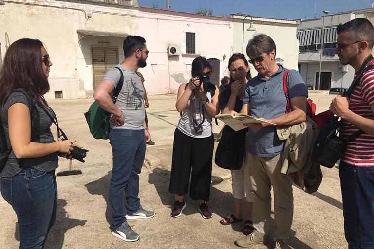 Giornalisti al piano delle fosse