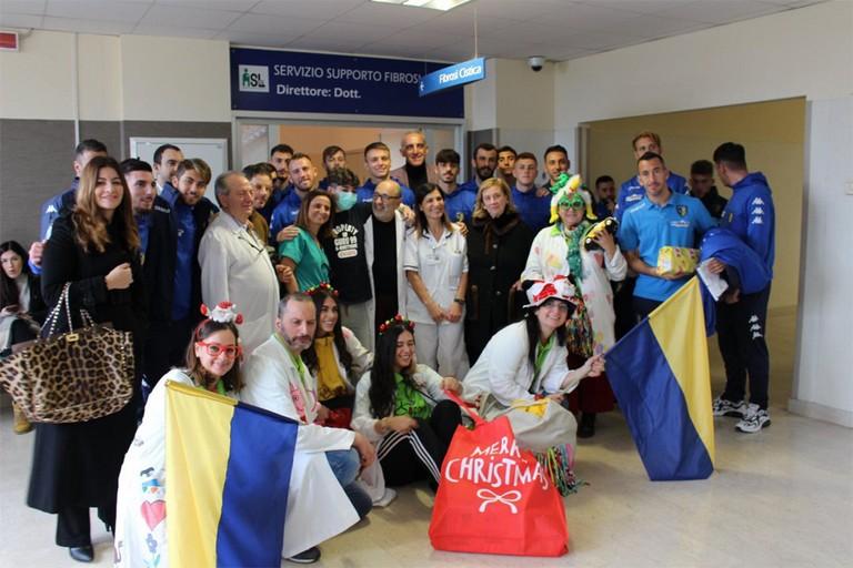 Audace Cerignola visita i pazienti dell'Ospedale Tatarella