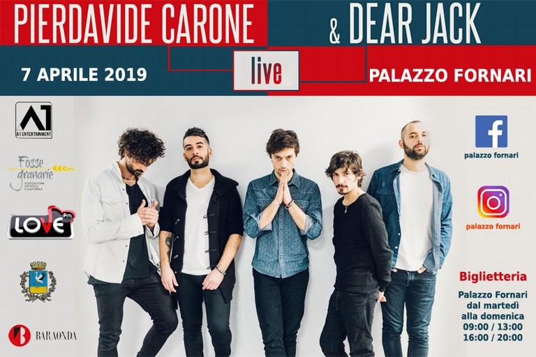 Pierdavide Carone & Dear Jack a Palazzo Fornari il 7 Aprile