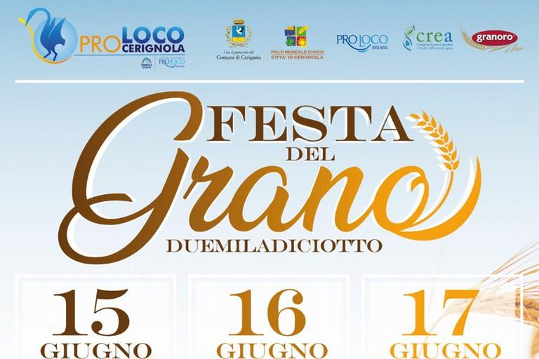 """La Proloco annuncia """"La prima festa del grano 2018"""" dal 15 al 17 giugno."""