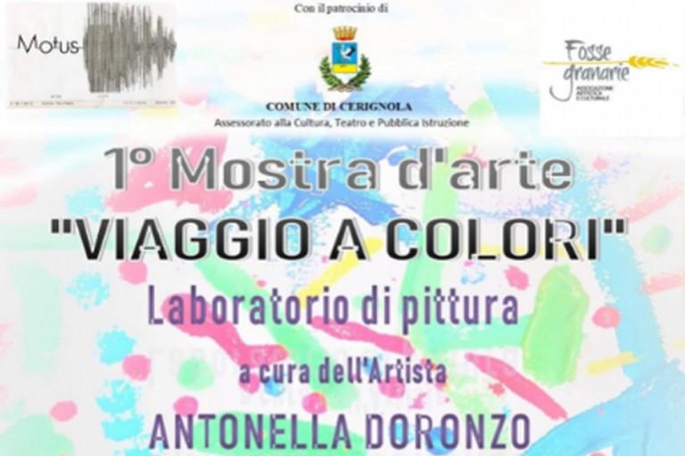 """""""Un Viaggio a Colori"""", la mostra d'arte organizzata dall'Associazione"""" Motus"""" a Palazzo Fornari"""