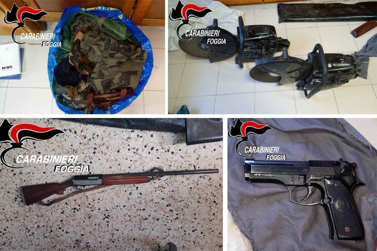 Sequestro armi e attrezzature