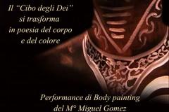 Cerignola, body painting con il cioccolato