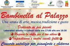 """""""Bambinella al Palazzo"""". Il 23 Novembre a Palazzo Fornari -LOCANDINA IN ALLEGATO-"""