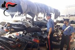 Video centrale mezzi rubati a Cerignola