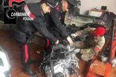 Arrestati due cerignolani in possesso di pezzi di autovetture rubati.