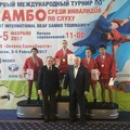 Aleandro Tristano medaglia d'oro al First International Deaf Sambo