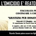 Fiaccolata per Donato Monopoli