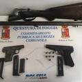 La polizia arresta due pregiudicati cerignolani per detenzione illegale di armi comuni da sparo
