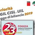 CGIL, CISL E UIL FOGGIA presentano la piattaforma unitaria per la legge di bilancio 2019