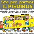 Un bus ecologico che t porta a scuola, Misericordia di Orta Nova attiva piedibus.