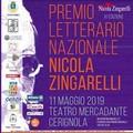 """Premio Letterario Nazionale """"N. Zingarelli"""", l'11 Maggio al Mercadante."""