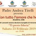 """""""Con tutto l'amore che ho """" - Il libro di Padre Andrea Trielli presentato a Palazzo Fornari dall'ass.  """"OltreBabele """"."""