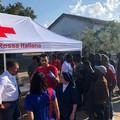 Croce Rossa a Tre Titoli per sostenere i braccianti stranieri -FOTO-