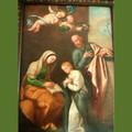 La tela l'Educazione della Vergine attribuita a Cesare Fracanzano