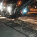 Iniziati questa notte i lavori di rifacimento del manto stradale