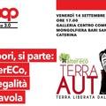 """Coop. Soc. AlterEco e Coop Alleanza 3,0 nell'evento """"Sapori, si parte, AlterEco, la legalità in tavola""""."""