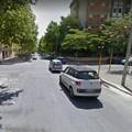 Via Milano, verso istituto tecnico Commerciale. Tratto di strada impraticabile.
