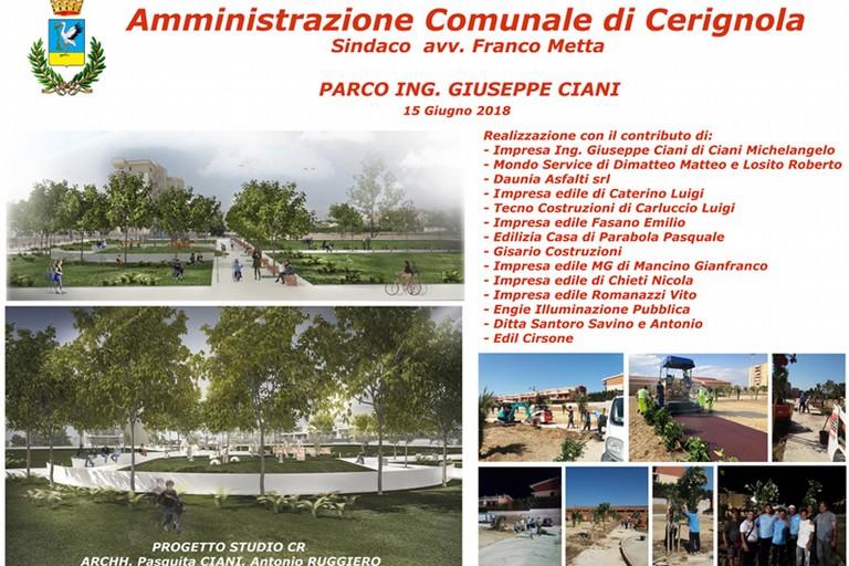 Sindaco Metta: Questa sera consegneremo al Quartiere Torricelli il Parco Ing. Giuseppe Ciani -VIDEO e FOTO-