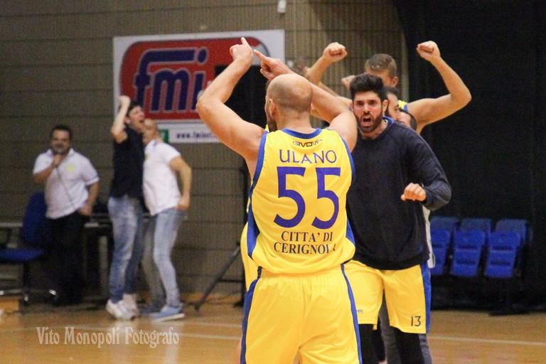 Esultanza Basket Club Cerignola. <span>Foto Vito Monopoli</span>